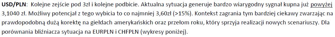 komentarz rynkowy do walut, styczeń 2014