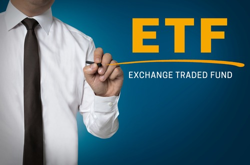 ETF is written by businessman background.